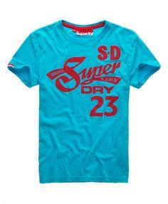 Mens - Cali Tails T-shirt in Aquamarine   Superdry
