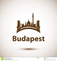 Illustration about Vector city skyline with landmarks Budapest Hungary. Vector illustration can be used as logo. Illustration of hungary, famous, danube - 85019081 Hungarian Tattoo, City Logo, Dad Tattoos, Skyline, Typographic Design, Budapest Hungary, English Words, Free Vector Art, Image Now