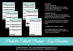 budget binder planner printable editable pdf chevron, monthly budget, weekly budget categorised budget, editable budget, income, savings, debt, housing, utilities, bills ect – compare budget and actual spending, daily budget,homekeeping notebook, household binder, budget and bill pay letter size - can print at half size, erin condren, A5, Filofax ect. https://www.etsy.com/au/listing/223994046/printable-editable-monthly-budget-or-any?ref=shop_home_active_6&ga_search_query=finance