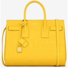 Saint Laurent Classic Small Sac De Jour Bag In Yellow Leather