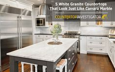 Best The Granite Is Glacier White Kitchen Countertops 400 x 300
