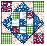 """Comforts of Home Quilt Block Pattern and Instructions 12"""" block"""