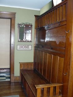 1924 Craftsman; Wide front porch opens into foyer with a Parson bench; 2 beds up, 1 down, 2 baths, 1,382 sqft