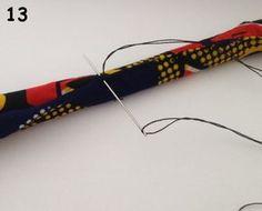 Tuto collier en tissu wax avec balles rembourrées avec de la ouate