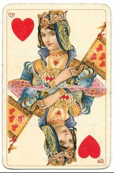 View top-quality stock photos of Queen Of Hearts Rare Dondorf Shakespeare Antique Playing Card. Find premium, high-resolution stock photography at Getty Images. Hearts Playing Cards, Playing Cards Art, Vintage Playing Cards, Playing Card Design, Queen Of Hearts Card, Art Carte, Heart Pictures, Casino Theme, Casino Party