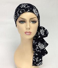 Ebony Floral Batik Turban Set