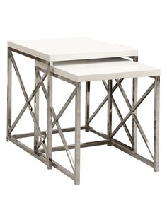 Metal Nesting Tables (Set of 2) by Monarch Specialties at Gilt