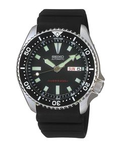 Glen's favourite from his grandad - Seiko Automatic Divers Black Polyurethane Strap Watch