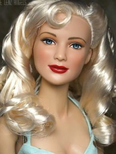 About Bobs Daughter: Hairstyle by Laurie Leigh. The doll reminds me of Bob, a dear friend of mine. This is his