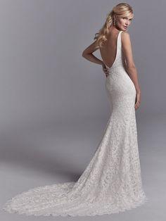 50e31e6bd44f4 Regan full lace spaghetti strap sweetheart mermaid fishtail wedding dress,  from the Sottero and Midgley