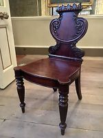 William IV Mahogany Irish Hall Chair C.1830