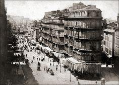 La Canebière et le Vieux Port dans les années 1860.