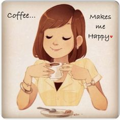 #Coffee makes me happy :) #coffeelovers