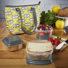 Hanover Insulated Lunch Bag Set with Portion Control Containers