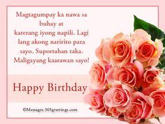 Happy Birthday in Tagalog Messages, Greetings and Wishes - Messages, Wordings and Gift Ideas