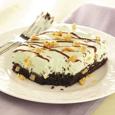 Mint Sundae Brownie Squares Recipe from Taste of Home