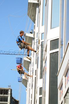 Washing Windows, Window Cleaner, Commercial, Industrial, Construction, Cleaning, Image, Building, Industrial Music