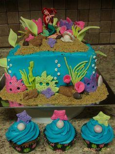 @Brandi Gordy -The Little Mermaid Cake! Just another cake idea for ya(:
