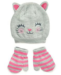 Carter's Kids Accessories, Toddler Girls Cold-Weather Character Hat and Mittens