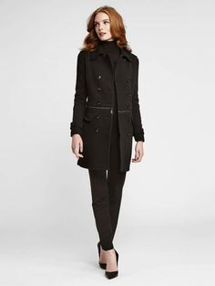 Don't you love this winter look? Zip Off Trench Coat Ponte and Leather Lisa Pant Turtleneck Pullover For more information about this look, contact Janet or send a message to Janet at jmajev @wbyworth.com. By appointment only.