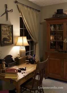 Lori Ann Corelis's home studio. A beautiful space!