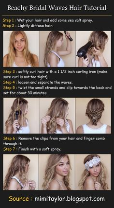 Beachy Bridal Waves Hair | Beauty Tutorials