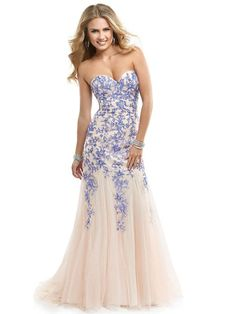 Sheath/Column Sweetheart Sleeveless Tulle Prom Dresses With Lace #BK007