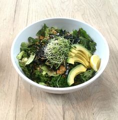 """Seaweed Caesar Salad"" (Romaine, Kale, Seaweed Caesar Dressing, Avocado, Capers, Nori, Sprouts, Pumpkin Seeds and Pine Nut Parmesan), The Springs, Art's District 