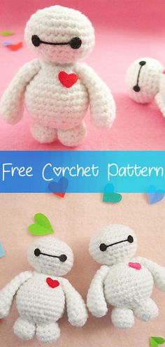 Hello friends, today I will show you this beautiful amigurumi Baymax that is very easy to do. For you who likes to crochet amigurumi this is a beautiful option for today. Crochet Dolls Free Patterns, Crochet Doll Pattern, Crochet Designs, Sewing Patterns, Doll Patterns, Baymax, Crochet Simple, Cute Crochet, Crochet Gifts