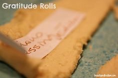 Gratitude Rolls #Thanksgiving #tradition #family #meal