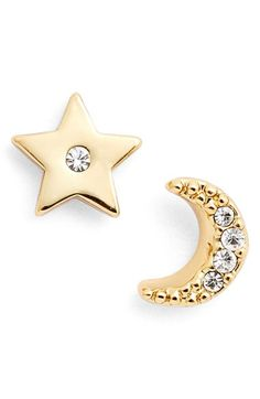 kate spade new york kate spade new york 'star and moon' asymmetrical stud earrings available at #Nordstrom