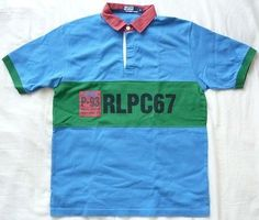 VINTAGE POLO RALPH LAUREN Rugby RLPC67 P93 Shirt ML/ P Wing 92 93 Stadium bear
