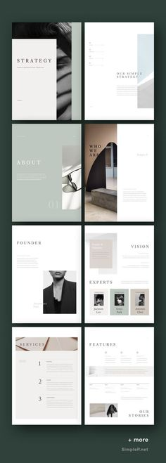 Strategy Vertical Presentation Template - Keynote - Ideas of Keynote - Strategy Vertical Presentation Template Portfolio Design Layouts, Layout Design, Portfolio Web, Graphisches Design, Logo Design, Branding Portfolio, Portfolio Strategy, Design Model, Design Ideas