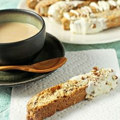 Maple pecan biscotti - a wonderful treat to enjoy with a cup of coffee or tea.
