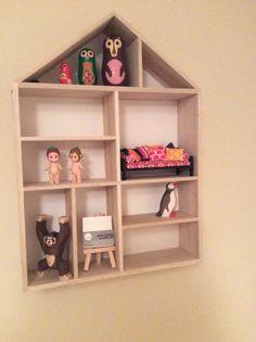 House shelf I have put a few bits in