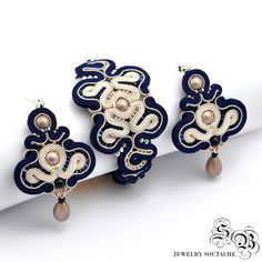 Set of bracelet and earringsSoutache por SBjewelrySoutache en Etsy