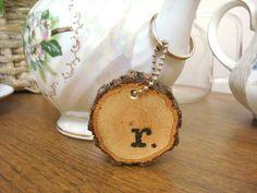 Handmade Keychain Personalized Wood Rustic Wood by SweetHomeWoods, $10.00