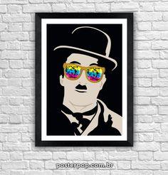 Poster Charles Chaplin e Marilyn