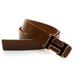 (JPB002-BROWN) Casual Leather Belt from W28 to W35