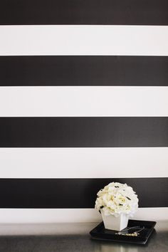 Peel and Stick temporary wallpaper in Simple Stripe (more colors available)