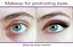 Makeup for protruding eyes