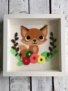 Fuchs Fox Bügelperlen Hama Beads Perler by dassommersprossenmaedchen