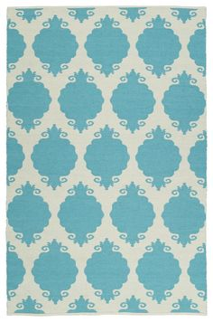 Brisa BRI01-78 Turquoise Indoor/Outdoor Rug  #dreamhome #classy #trendy #floordecor #homeaccents #instahome #fab #rugs #homedecor #carpet