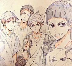 Haikyuu Fanart, Haikyuu Anime, Haikyuu Characters, Anime Characters, Goshiki Tsutomu, Anime Guys, Manga Anime, Semi Eita, Anime Character Drawing