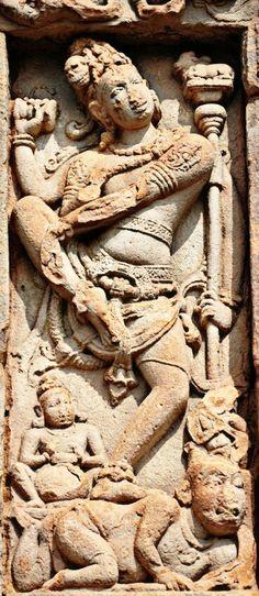 """"""" Natraj """" ( Lord Shiva as Dancer ). Virupaksha Temple. Pattadakal. Chalukya Dynasty. 8th Century CE. Karnataka, India."""