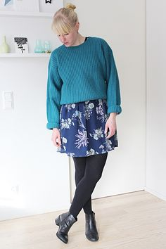 Floral dressa and sweater // Kotisaari