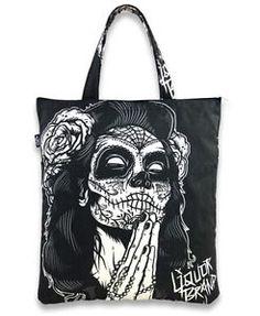 Liquor Brand Gypsy Girl Canvas Tote Bag Rockabilly Halloween Day of The Dead New | eBay