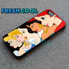 AJ 2063 Beautyful Disney Princess Face - iPhone 4/4s/5 Case - Samsung Galaxy S2/S3/S4 Case - Black or White by FreshCool on Etsy