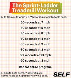 10 Boredom-Busting Treadmill Workouts #SelfMagazine