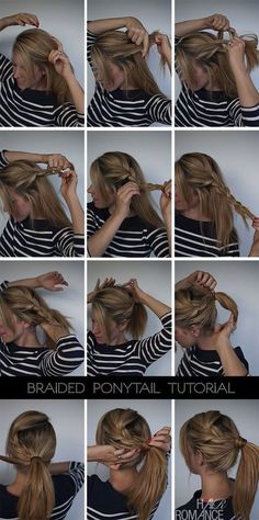 Cute Hair Styles for Girls: French Braid to Pony Tail  #HairStyle